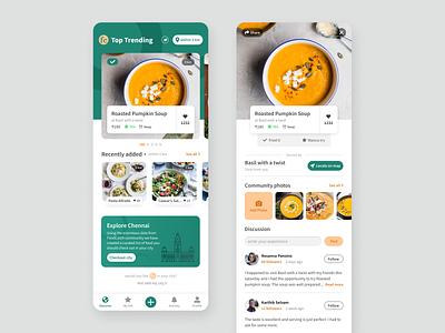 Foodcatch ux ui design mobile app illustration ui design