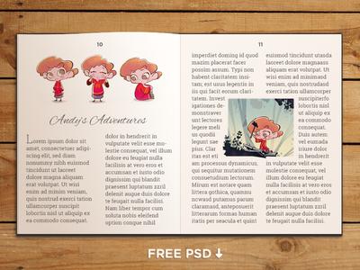 FREE PSD - Book template