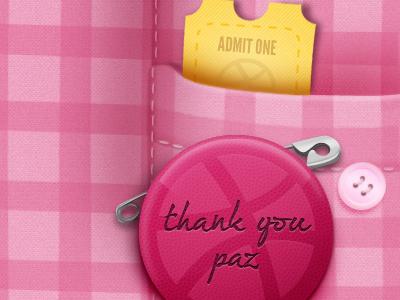 Thank you Paz debut thanks paz aricha badge shirt ticket button