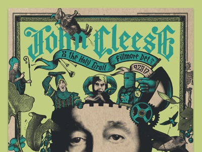 John Cleese Poster detroit prints illustration monty python john cleese show gigposter print