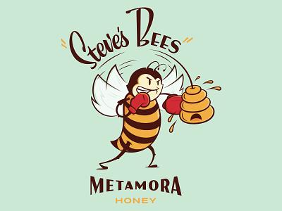 Steve's Bees Branding design brand animal logo vector sketch illustration