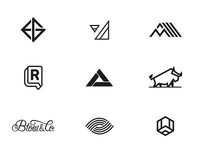 Marks Part 03 minimal illustration branding mark logo design vector brand icons