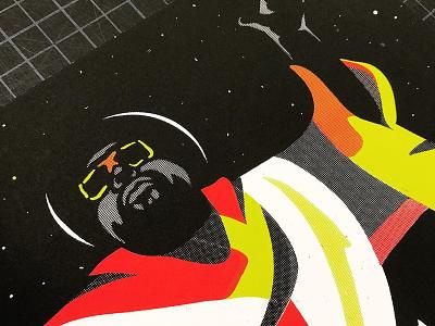 George Clinton Print funk poster silkscreen illustration