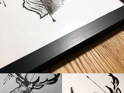 Ten Pointer Inking animal sketch deer inking illustration