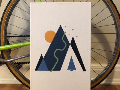 Trails illustration paint minimal geometic design painting acrylic