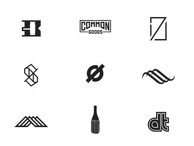 Marks Part 05 brand branding minimal icons vector logodesign marks design logos logo