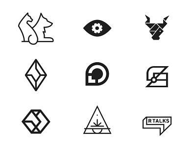 Marks Part 06 logo design vector branding brand mark logos