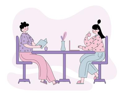 Morning coffee design illustration