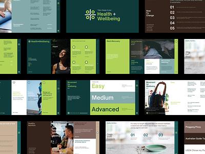 Health + Wellbeing Website digital wellbeing health website design ui ui design web design website