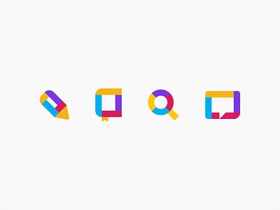 Multicolor Icons digital app vector illustration icons ui design