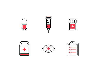 Medical Icons medicine hospital medical flat ux illustration icons vector design product ui icon