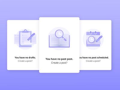 Scheduler Empty State empty state schedule scheduler app vector graphic gradient ui product icon canva icons illustration design