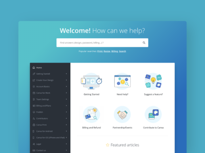 Help Center Illustrations and Icons