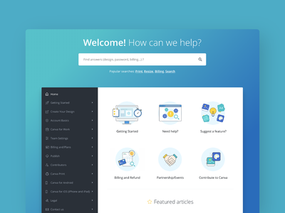 Help Center Illustrations and Icons ux website web app help center vector gradient product ui icon canva icons illustration design