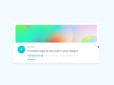 Audio Article article audio ux ui design canva