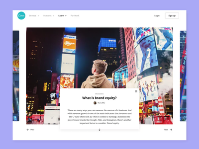 Learn Article blog article web ui design canva