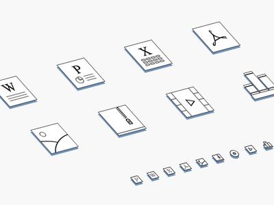 文件格式图标设计