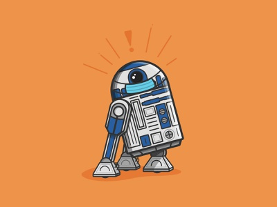 I've Got A Bad Feeling About This | Year Five print design print covid r2-d2 progress r2d2 star wars vector illustration orlando caseyillustrates