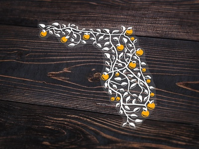 The Roads Home   Clear Decal orlando highways tree map oranges florida