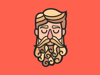 Curly Beard | No Shave November mustache curly curls movember noshember no shave november beard