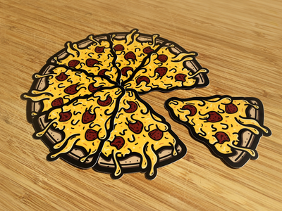 Pizza | Stickers stickers cheesy nom food pizza