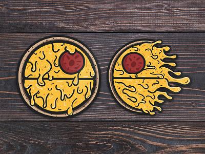 Pizza Death Star yum decals shop etsy pizza death star
