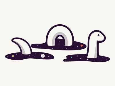 Space Nessie orlando caseyillustrates ness loch monster sea nessie ocean planets space
