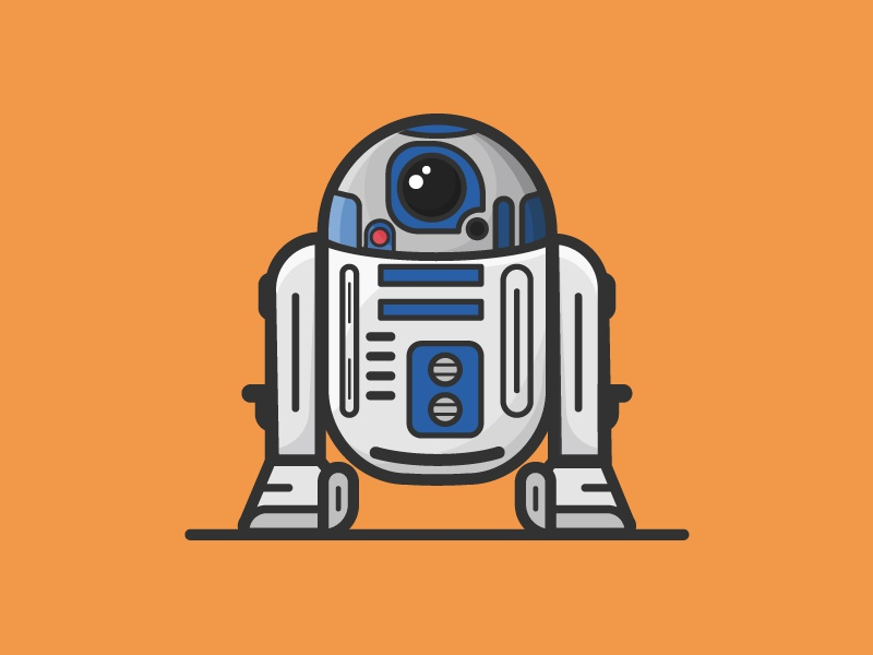 R2-D2 | Two Year Anniversary progress video process r2-d2 droid bb8 bb-8 orlando illustration star wars