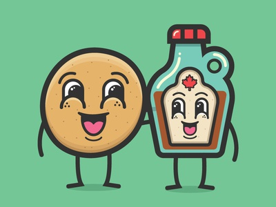 🥞 + 🍁 = ♥️ | The Pancake Buddies canada happy syrup friends buddy breakfast pancake
