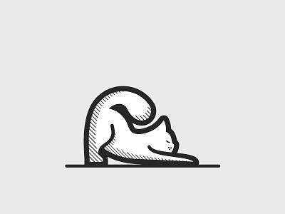 Meeeeoow meow stretch cat