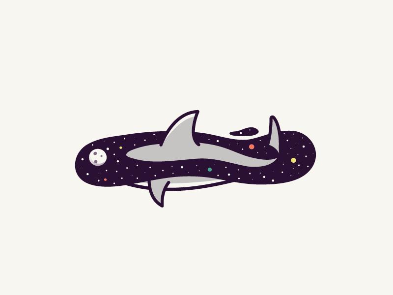 Spaceanimals shark dribbble