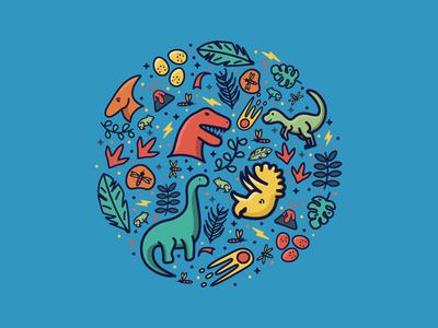 Jurassic jurassic pattern dinosaur