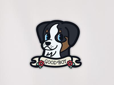 Obi Good Boy | Sticker animal pet pupper puppy dog good boy australian shepherd aussie obi
