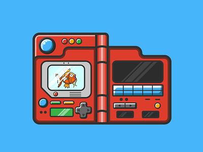 Pokédex pikachu caseyillustrates illustration orlando collect video game karp magikarp pokemon pokédex