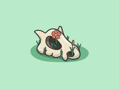 Cubone, A Lonely Pokémon pokedex pokemon sad dead skull cubone vector inktober illustration orlando caseyillustrates