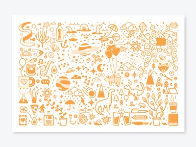 Orange Objects houseplants houseplant icons print design illustration beer ocean dog florida portfolio monocromatic dinosaur branding pattern animal space pokemon vector orlando caseyillustrates
