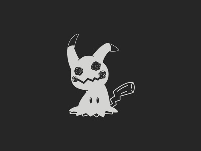 Misfit   Inktober 18/31 nintendo pokemon go pikachu mimikyu pokemon inktober vector illustration orlando caseyillustrates