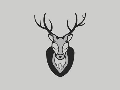Injured | Inktober 29/31 head mount hunting animal deer inktober 2019 caseyillustrates inktober vector illustration orlando flat