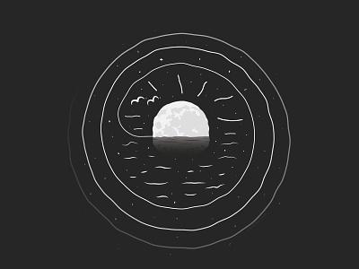 Good News print night ocean good news mac miller moon caseyillustrates illustration orlando