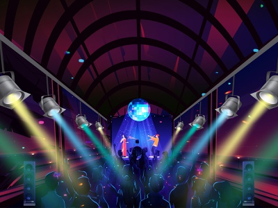 MUSIC PARTY vector talenthouseartist talenthouse artdirection illustration