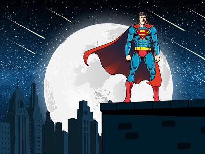 Superman illustrationartist hiwow dream creative advertising design vector talenthouseartist talenthouse artdirection illustration