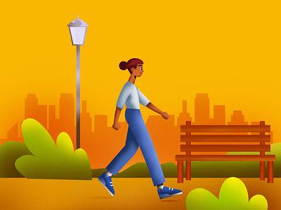 walk illustrationartist vector talenthouseartist talenthouse artdirection illustration