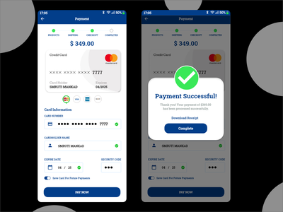 Pop-up/Overlay Design - Successful Payment Page paymentsuccessful payment overlay popup app ui design
