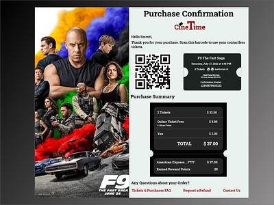 Email Receipt Design dailyui movie receipt email app ui design