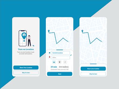 Location Tracker UI sharelocation share tracker locationtracker location dailyui app ui design