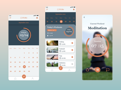 Workout of the Day UI workout dailyui062 appdesign appui ux dailyui app ui design