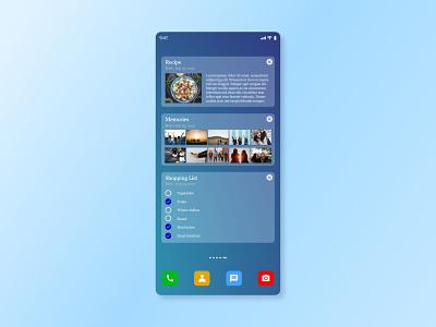 Notes Widget UI noteswidget dailyui065 appdesign appui ux dailyui app ui design