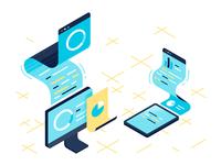 Data/analytics illustration