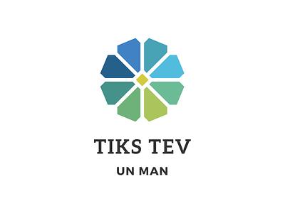 Tiks Tev Un Man monocromatic brand logo sketchapp riga latvia