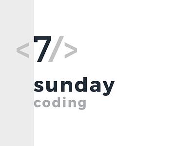 Sunday Coding hobby coding latvia riga brand logo
